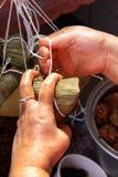 Polpetta cotta a vapore del riso Immagini Stock Libere da Diritti
