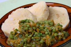 Polpetta del pane con la verdura Fotografia Stock