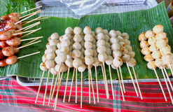 Polpetta tailandese del bastone, alimento della via Fotografia Stock Libera da Diritti
