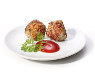 Polpette con la salsa di pomodori. fotografie stock