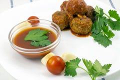 Polpette con salsa al pomodoro fotografia stock libera da diritti
