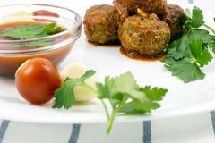 Polpette con salsa al pomodoro Immagini Stock