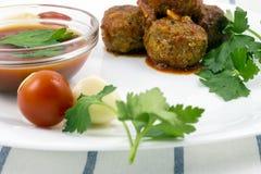 Polpette con salsa al pomodoro Immagine Stock Libera da Diritti