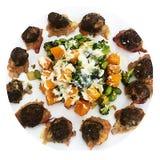 Polpette della Turchia degli spinaci--Ricetta del cheto fotografia stock