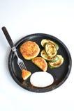 Polpette di verdure con lo zucchini Immagini Stock