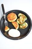 Polpette di verdure con lo zucchini Fotografia Stock