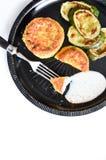 Polpette di verdure con lo zucchini Fotografie Stock Libere da Diritti