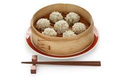 Polpette nel vapore di bambù, FO cinesi del riso Fotografia Stock Libera da Diritti