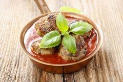 Polpette in salsa di pomodori Immagini Stock Libere da Diritti