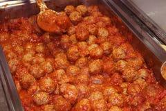 Polpette squisite in salsa di marinara Fotografia Stock