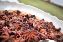 Polpi-octopus antipasti, italian octupus ant pasti buffet dish Royalty Free Stock Photography