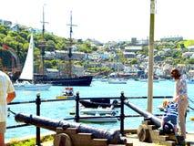 Polruan, Cornwall. obraz royalty free