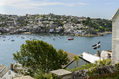 Polruan and cove from Fowey, Cornwall royalty free stock photos