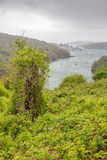 Polruan and Fowey in cornwall england uk. Stock Photos