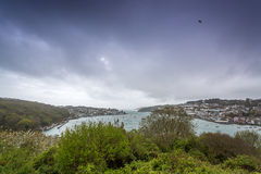 Polruan and Fowey in cornwall england uk. Stock Images