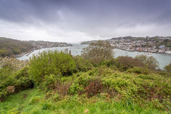 Polruan and Fowey in cornwall england uk. Royalty Free Stock Photos