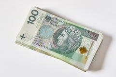 Polscy banknoty Polski złoty PLN Zdjęcia Stock