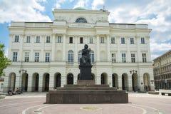 Polsk akademi av vetenskaper i Warszawa royaltyfri bild