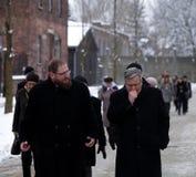Polsk 'aw Komorowski, 70th årsdag för president BronisÅ av befrielsen på den Nazi German concentractionen Royaltyfri Bild
