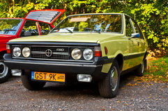 Polsk bil Polonez 1500 för klassiker på en bilshow Royaltyfria Bilder