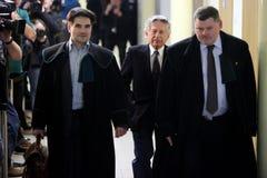 Polsk filmdirektör Roman Polanski i rätten i Cracow Royaltyfri Fotografi