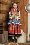 Polsk flicka royaltyfria foton