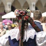 Polsk folkdräkt Fotografering för Bildbyråer