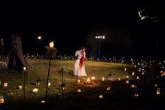 Polsk grupp. Teatr FETA och Teatr Poza Tym i anblick Fotografering för Bildbyråer