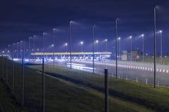 Polsk huvudväg Arkivfoto