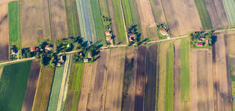 Polsk jordbruksmark nära Krakow Fotografering för Bildbyråer