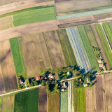 Polsk jordbruksmark nära Krakow Arkivbilder