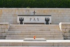 Polsk krigkyrkogård i Cassino, Italien Arkivfoton