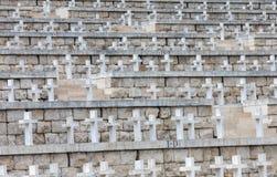 Polsk krigkyrkogård på Monte Cassino - en nekropol av polermedelsoldater som dog i striden av Monte Cassino från 11 till 19 Maj Royaltyfria Bilder
