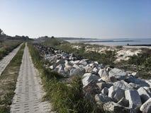 Polsk kust för baltiskt hav Fotografering för Bildbyråer