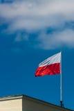Polsk nationsflagga Fotografering för Bildbyråer