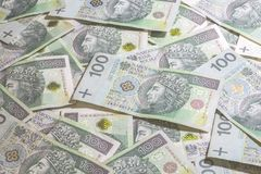 Polsk pengarbakgrund Royaltyfria Bilder