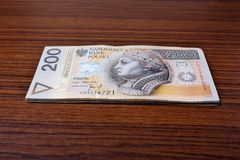 Polsk pengarlön Royaltyfria Bilder