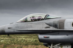 Polsk pilot F-16 Arkivbild