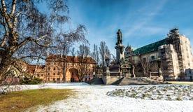 Polsk poet Adam Mickiewicz för monument Fotografering för Bildbyråer