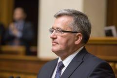 Polsk president Bronislaw Komorowski Arkivbild