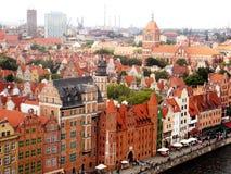 Polsk stad Arkivfoto