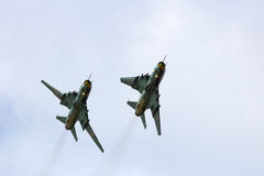 Polsk Su-22 Arkivfoton