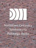 Polsk symfoniorkester NOSPR för nationell radio arkivfoto