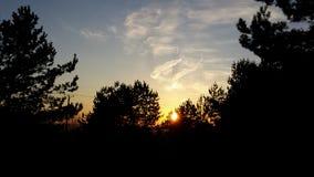 Polsk vårsolnedgång i mars royaltyfri foto