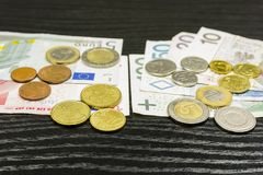 Polsk valuta och euroområdet Royaltyfri Bild