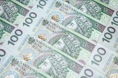 Polsk zloty för pengar 100 Arkivbilder