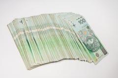 Polsk zloty för valuta 100 Arkivbild