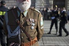 Polska żołnierza suknia zdjęcie royalty free