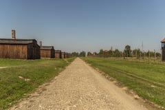Polska auschwitz 19-September 2018 widok elektryczne sekretarki nazistowski koncentracyjny obóz Auschwitz i koszary obrazy royalty free