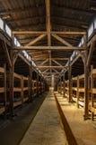 Polska auschwitz 19-September 2018 widok wnętrze koszary nazi obóz Birkenau zdjęcie stock